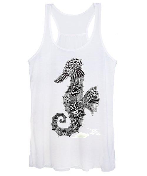 Zen Seahorse Women's Tank Top