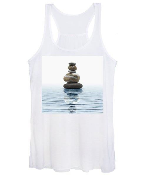 Zen Stones In Water Women's Tank Top
