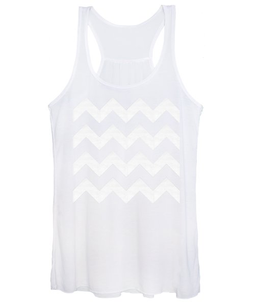 Zig Zag - White - Transparent Women's Tank Top