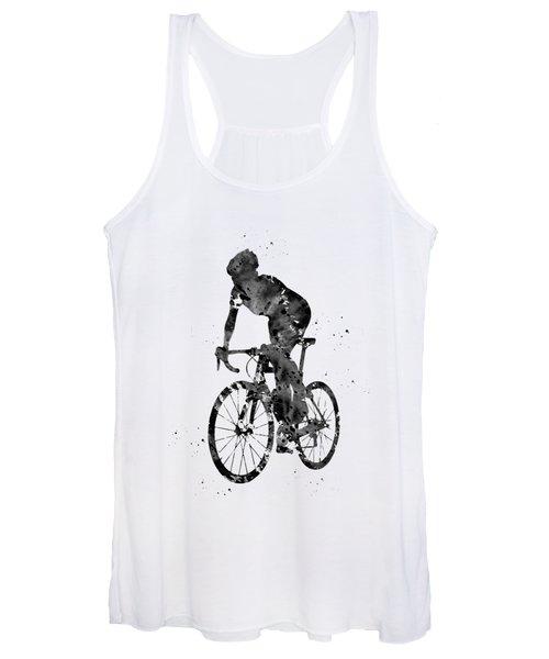 Cyclist Sprinting Women's Tank Top