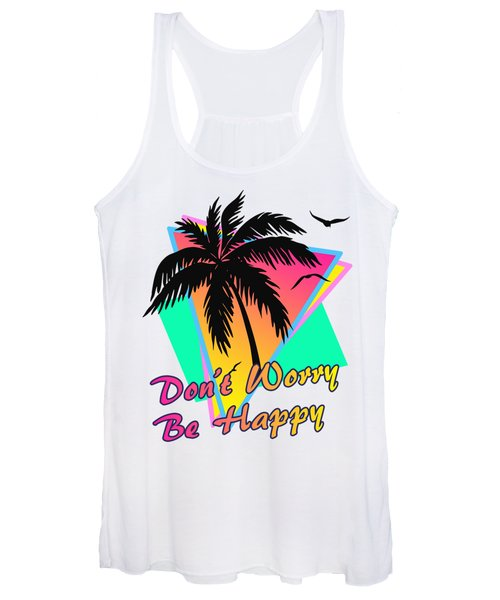Don't Worry Be Happy Women's Tank Top