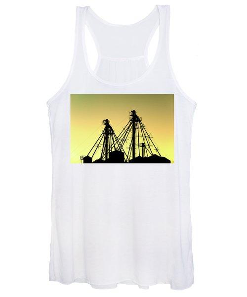 Grain Elevator Silhouette Women's Tank Top