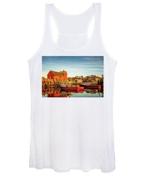 Low Tide And Lobster Boats At Motif #1 Women's Tank Top