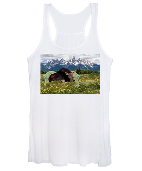 Nap Time In The Tetons Women's Tank Top