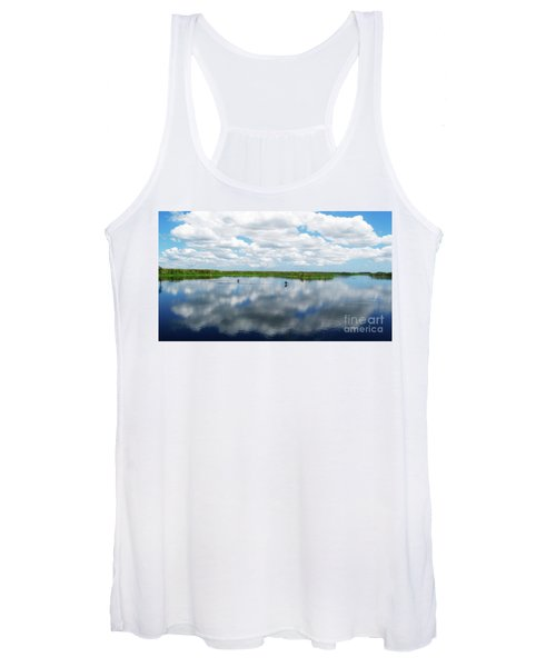Skyscape Reflections Blue Cypress Marsh Near Vero Beach Florida C6 Women's Tank Top