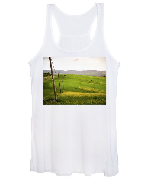 Tuscan Landscapes. Hills In The Spring Women's Tank Top