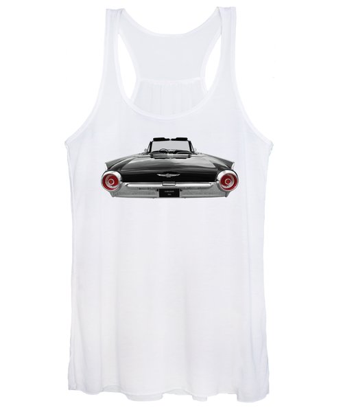 1962 Thunderbird Bw With Red Tail Lights Women's Tank Top