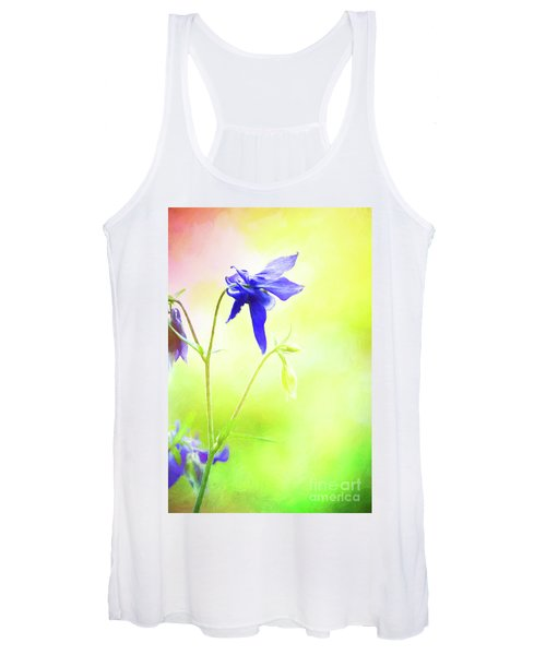 Painted Purple Columbine 2 Women's Tank Top