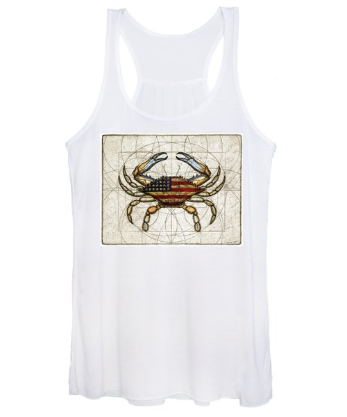 4th Of July Crab Women's Tank Top