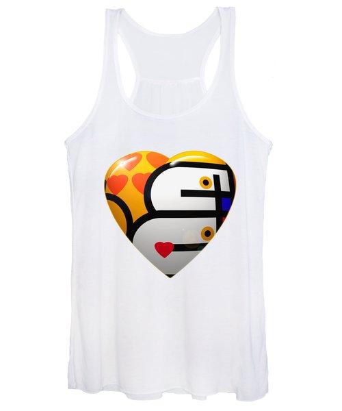 Love Heart Women's Tank Top
