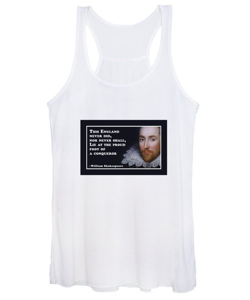 This England Never Did #shakespeare #shakespearequote Women's Tank Top
