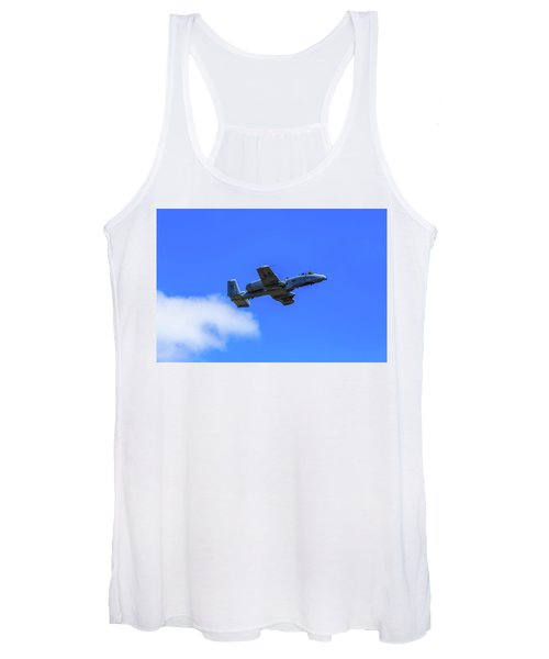 A-10c Thunderbolt II In Flight Women's Tank Top