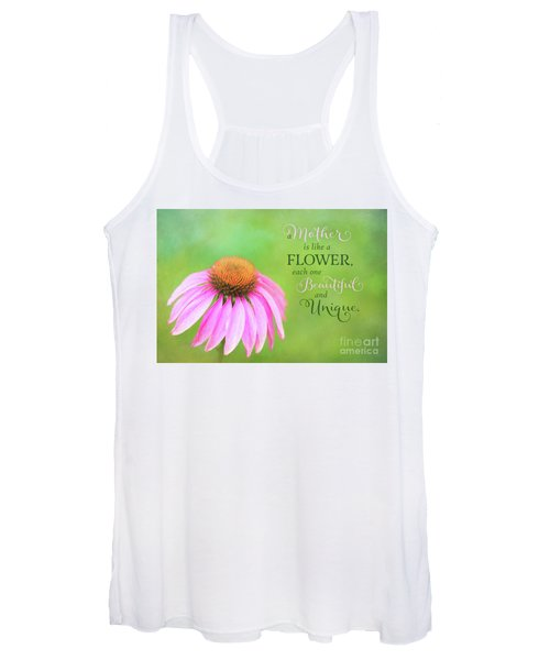 A Mother Is Lke A Flower Women's Tank Top