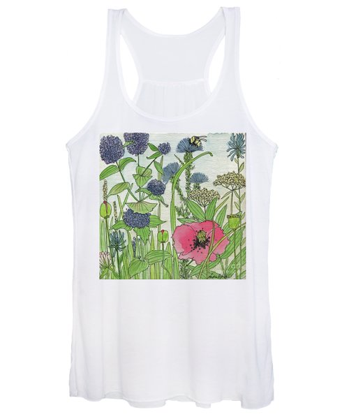 A Single Poppy Wildflowers Garden Flowers Women's Tank Top