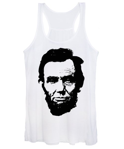 Abraham Lincoln Minimalistic Pop Art Women's Tank Top