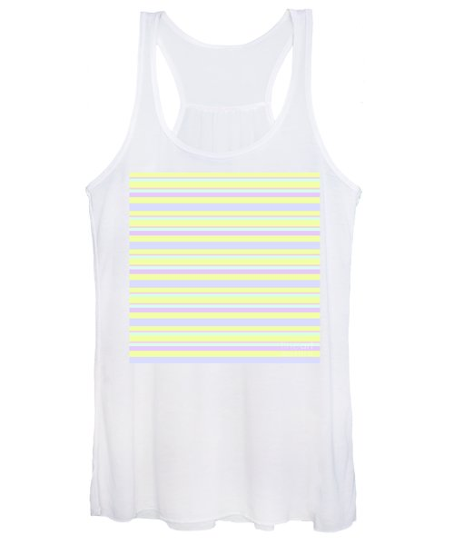 Abstract Horizontal Fresh Lines Background - Dde596 Women's Tank Top