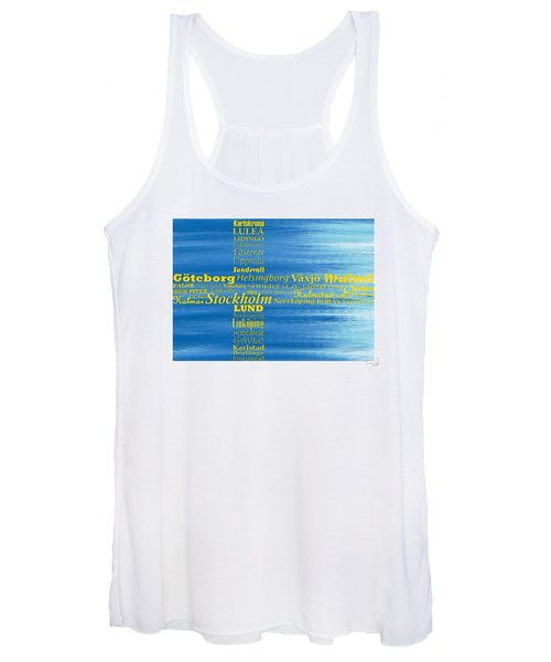 Abstract Swedish Flag  Women's Tank Top