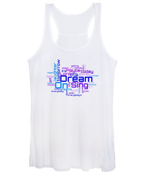 Aerosmith - Dream On Lyrical Cloud Women's Tank Top