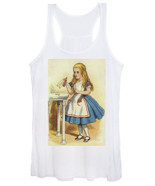 Alice Discovers A Bottle Marked Drink Me Women's Tank Top