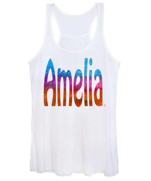 Women's Tank Top featuring the digital art Amelia by Corinne Carroll