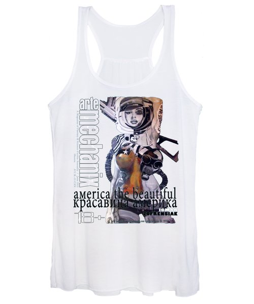 arteMECHANIX 1913 AMERICA THE BEAUTIFUL GRUNGE Women's Tank Top