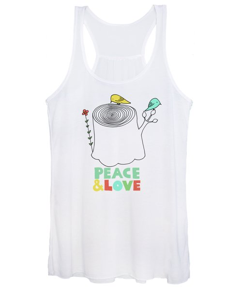 Peace And Love Women's Tank Top