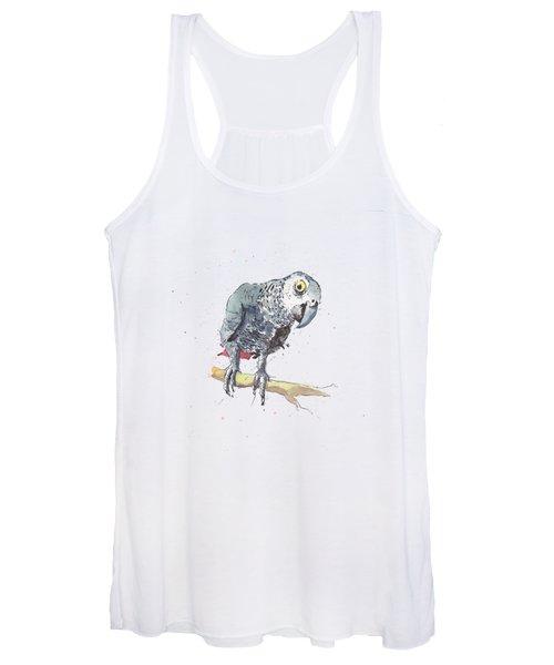 African Grey Parrot Women's Tank Top