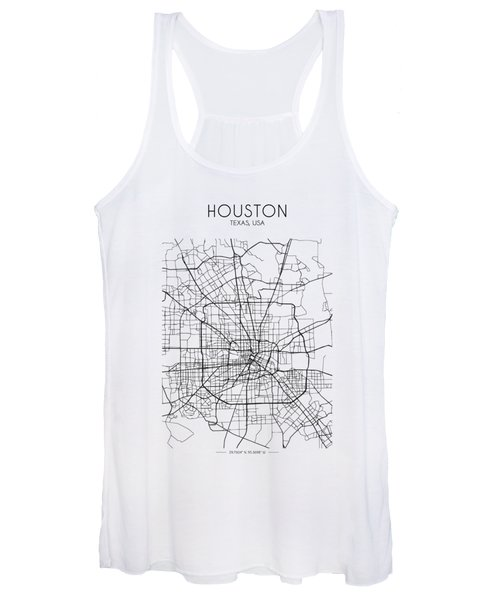 Houston Street Map Women's Tank Top