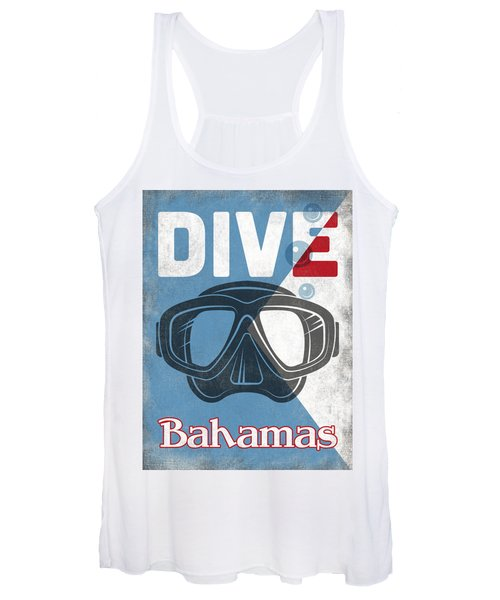 Bahamas Vintage Scuba Diving Mask Women's Tank Top