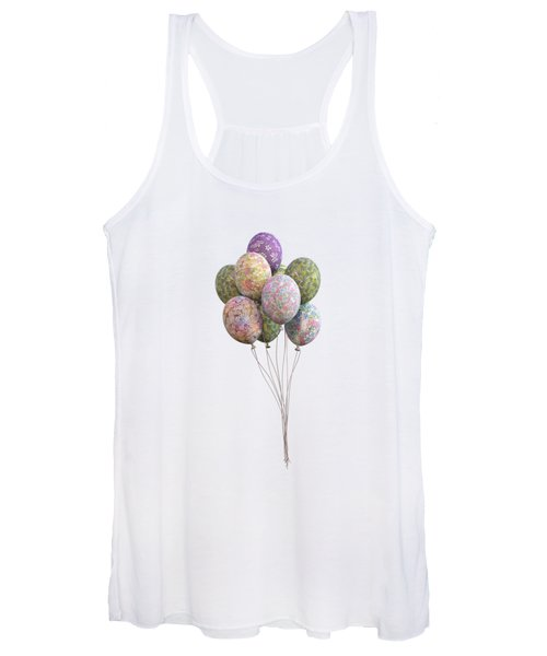 Balloons Classic Floral Women's Tank Top