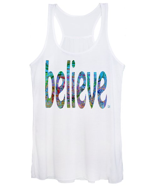 Women's Tank Top featuring the digital art Believe 1001 by Corinne Carroll