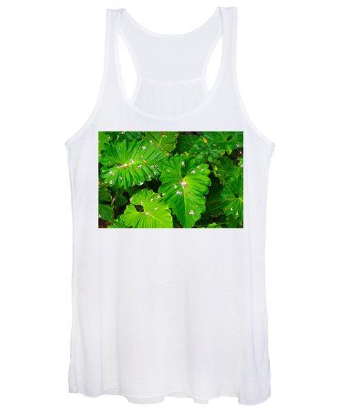 Big Green Leaves Women's Tank Top
