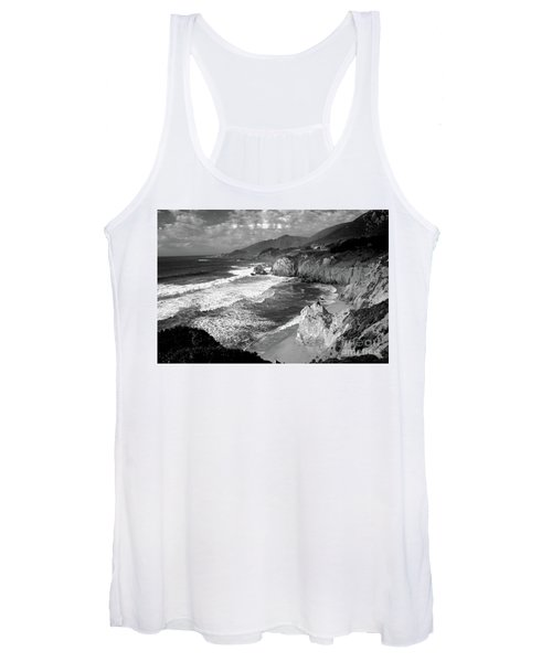 Black And White Big Sur Women's Tank Top