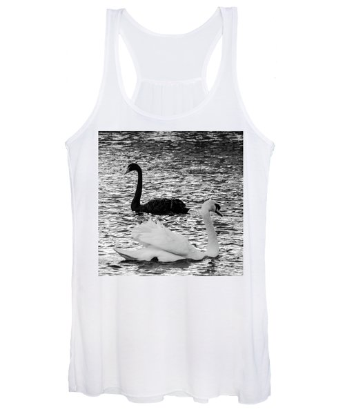 Black And White Swans Women's Tank Top