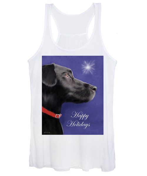 Black Labrador Retriever - Happy Holidays Women's Tank Top