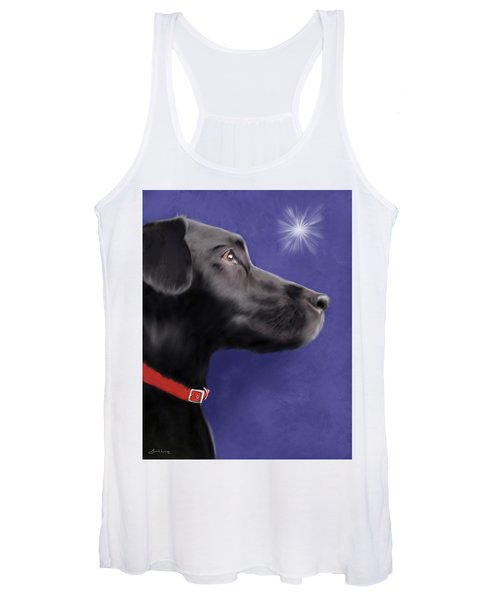 Black Labrador Retriever - Wish Upon A Star  Women's Tank Top