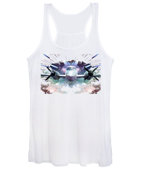 Blast From The Past On A Transparent Background Women's Tank Top