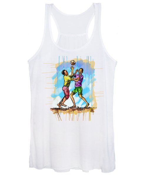 Boys Playing With A Ball Women's Tank Top