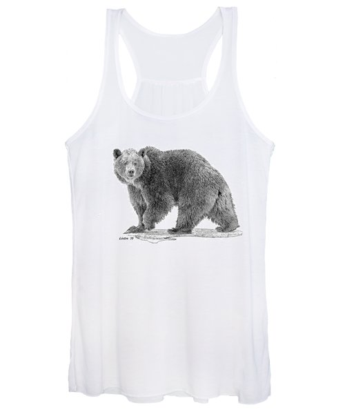 Brown Black And White Women's Tank Top