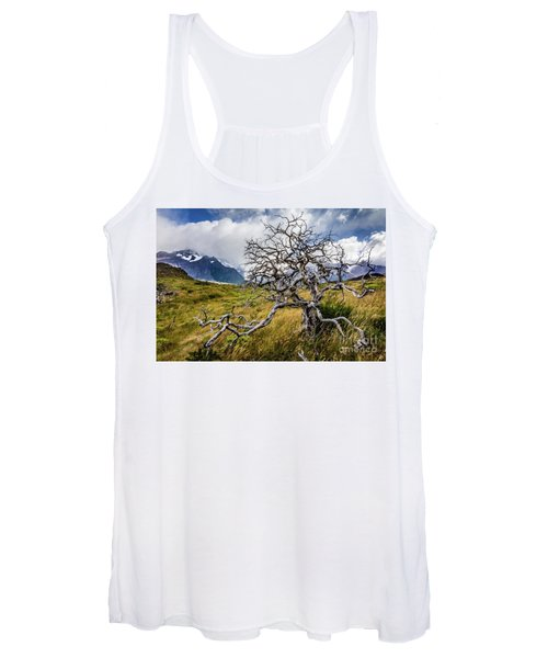 Burnt Tree, Torres Del Paine, Chile Women's Tank Top