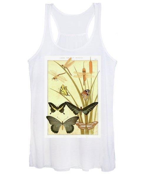 Butterflies By Maurice Pillard Verneuil Women's Tank Top