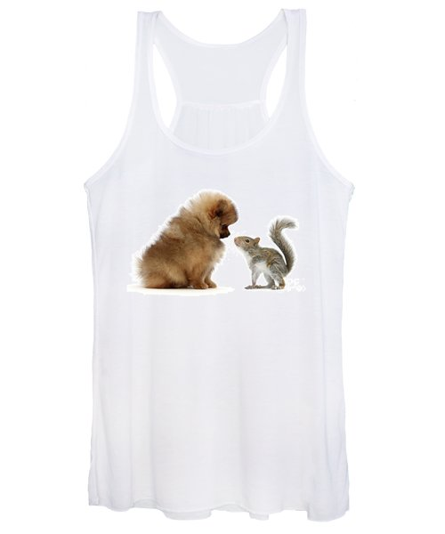 Careful I May Contain Nuts Women's Tank Top