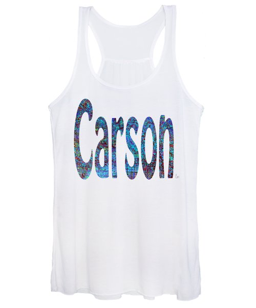 Women's Tank Top featuring the digital art Carson 2 by Corinne Carroll