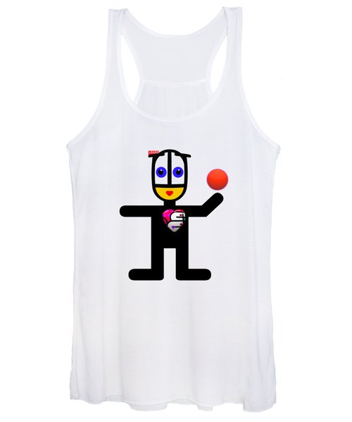 Cat With A Ball Women's Tank Top