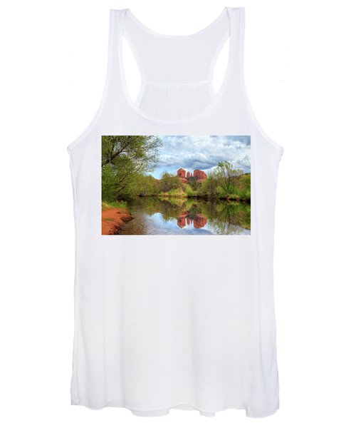 Cathedral Rock Reflection Women's Tank Top