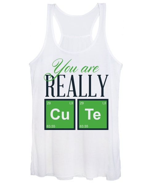 Chemistry Fun You Are Really Cu Te Women's Tank Top