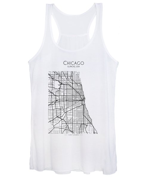 Chicago City Street Map Women's Tank Top