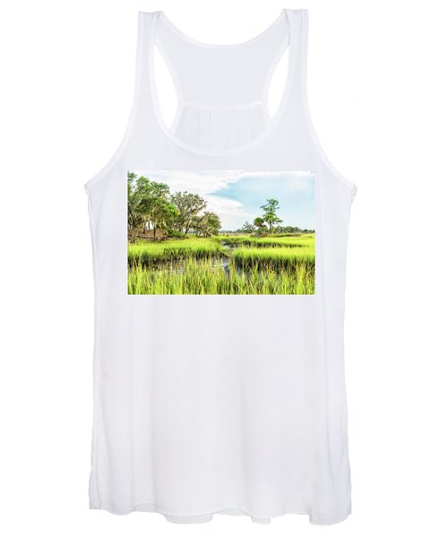 Chisolm Island - Marsh At Low Tide Women's Tank Top