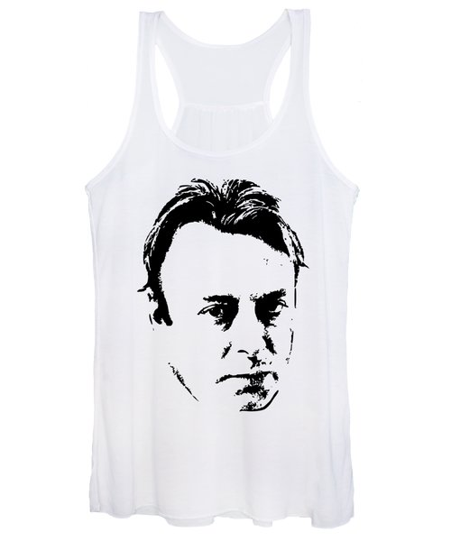 Christopher Hitchens Minimalistic Pop Art Women's Tank Top