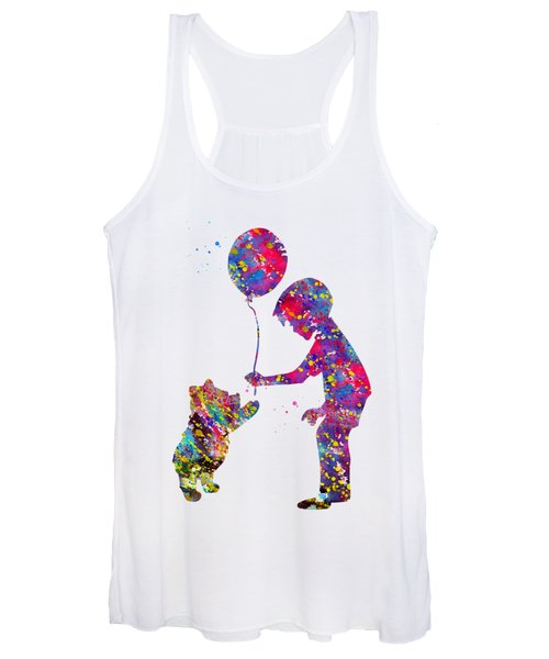 Christopher Robbin And Winnie The Pooh Women's Tank Top